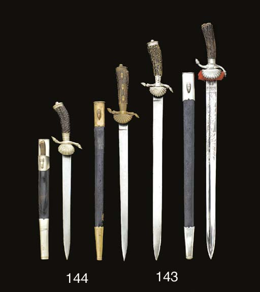 TWO HUNTING SWORDS Comprizing