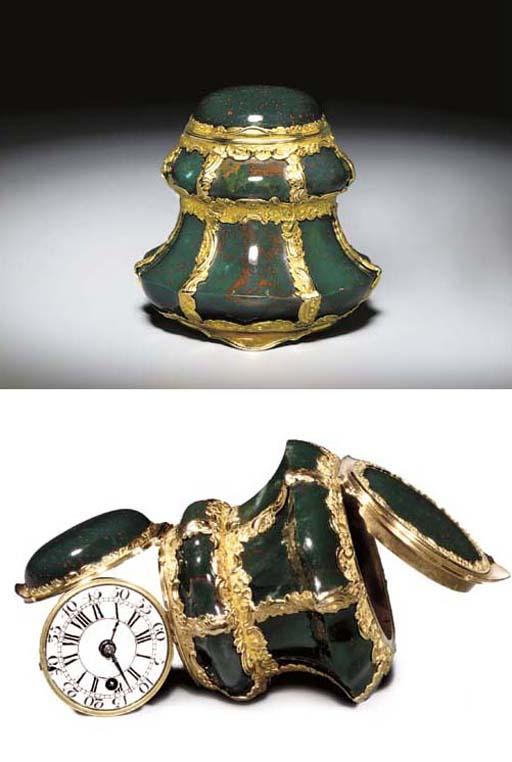 A RARE GEORGE II GOLD-MOUNTED