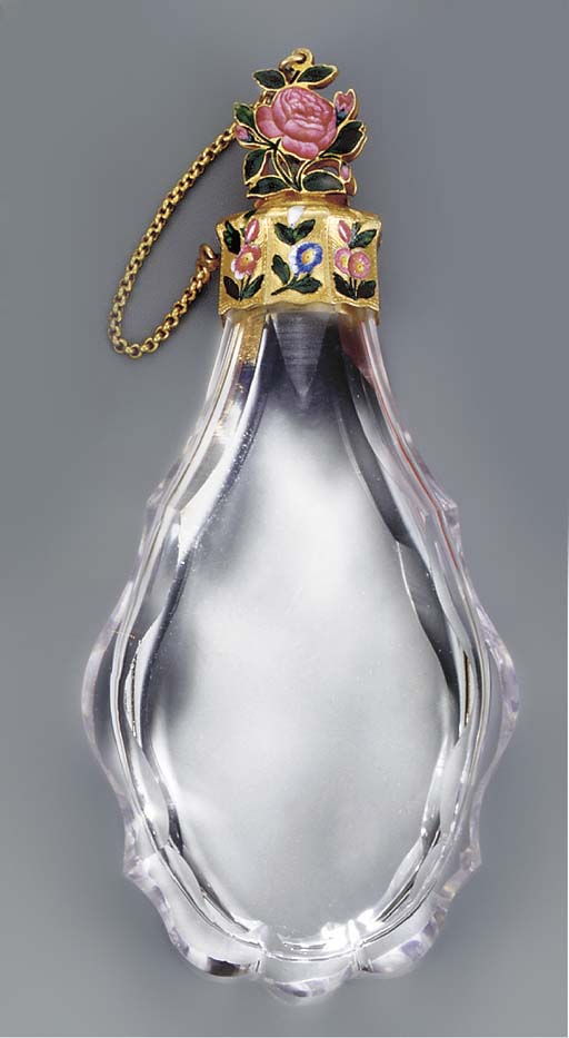 A LOUIS XV GLASS SCENT-BOTTLE