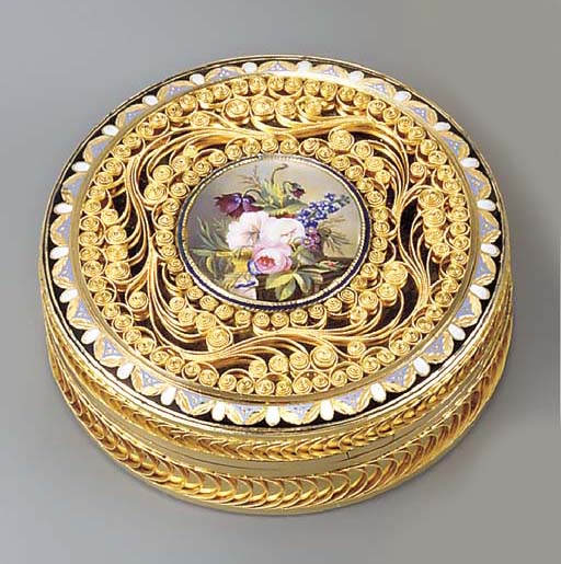 A SWISS PARCEL-ENAMELLED GOLD