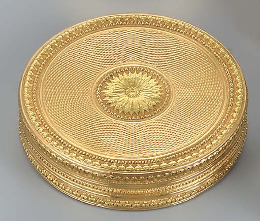 A GEORGE III TWO-COLOUR GOLD B