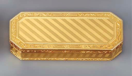A FRENCH GOLD SNUFF-BOX
