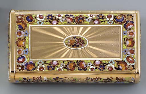 A CONTINENTAL ENAMELLED GOLD S
