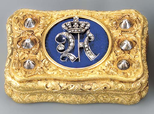 A GERMAN JEWELLED AND ENAMELLE