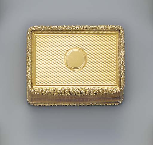 A William IV gold vinaigrette