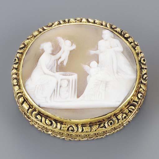 A William IV silver-gilt mount