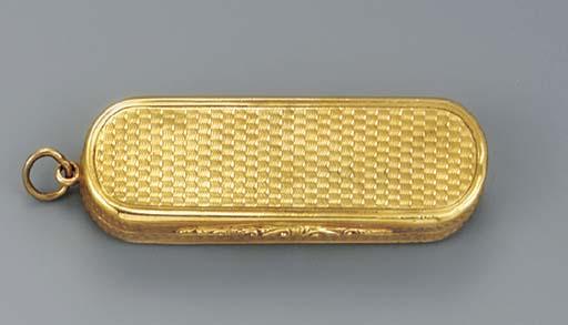 A William IV gold pendant vina
