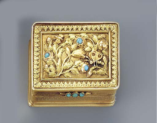 A vari-coloured gold and turqu