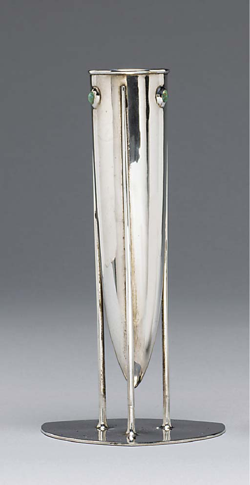 A Turquoise and Silver Vase