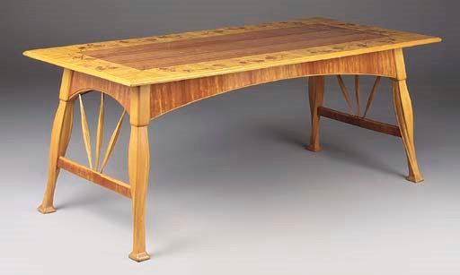 A Carved and Inlaid Table