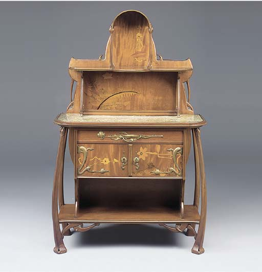 A Marquetry Sideboard