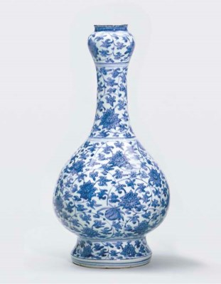 A MING BLUE AND WHITE PEAR-SHA