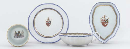 AN ARMORIAL BOWL; A SAUCE-BOAT