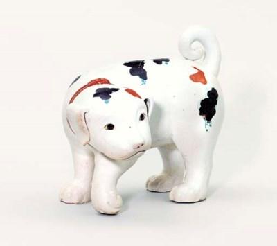 AN IMARI MODEL OF A DOG