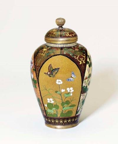 A Cloisonné Enamel Vase and Co