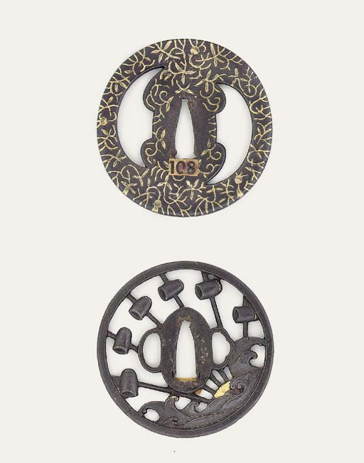 A Large Choshu Tsuba and Two O