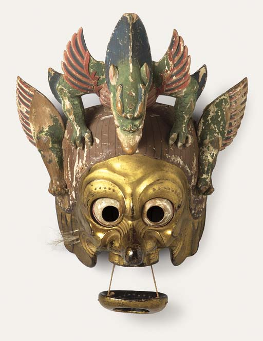 A Gigaku Mask of Raryo-o