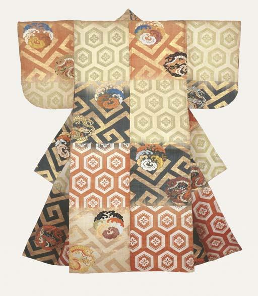 An Atsuita Robe of Brocaded Si