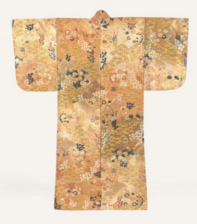 A Karaori Robe of Brocaded Sil