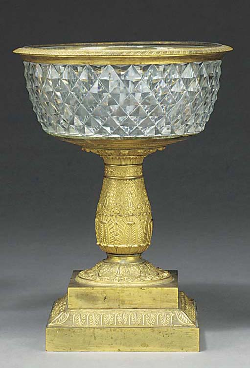 AN EMPIRE ORMOLU AND CUT-GLASS