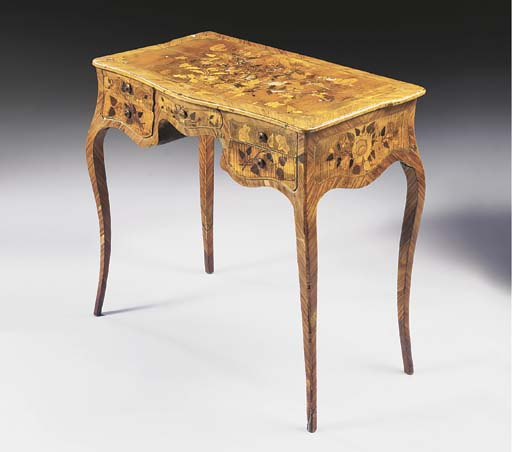A LOUIS XV TULIPWOOD, SYCAMORE