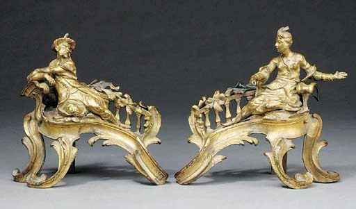 A PAIR OF FRENCH LACQUERED BRO