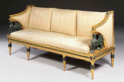A SWEDISH PARCEL-GILT AND BRON