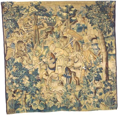 A FLEMISH GAME-PARK TAPESTRY F
