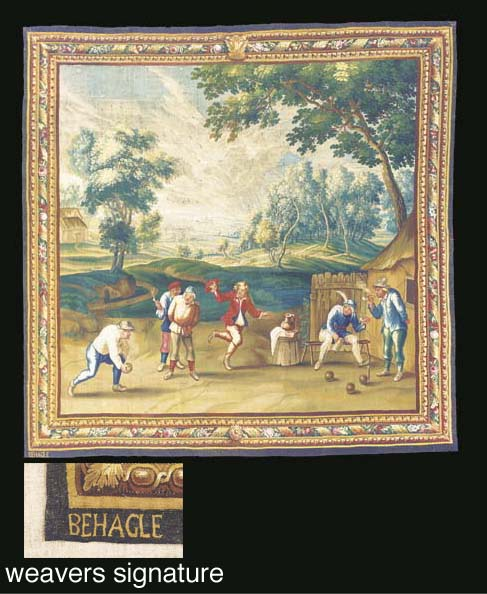 A BEAUVAIS TENIERS TAPESTRY