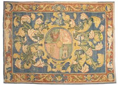 A FLEMISH ARMORIAL TAPESTRY