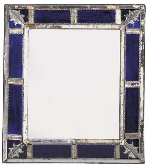 AN ITALIAN CUT-GLASS AND BLUE