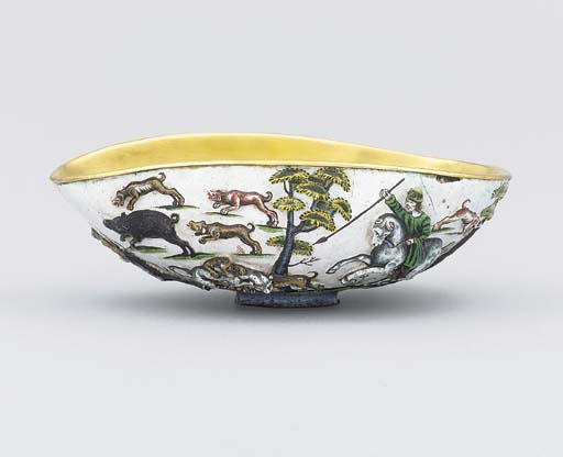 An enamelled and silver-gilt s