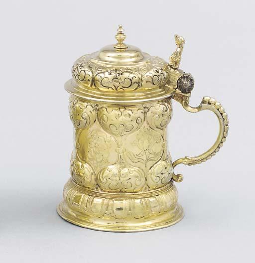 A German silver-gilt tankard