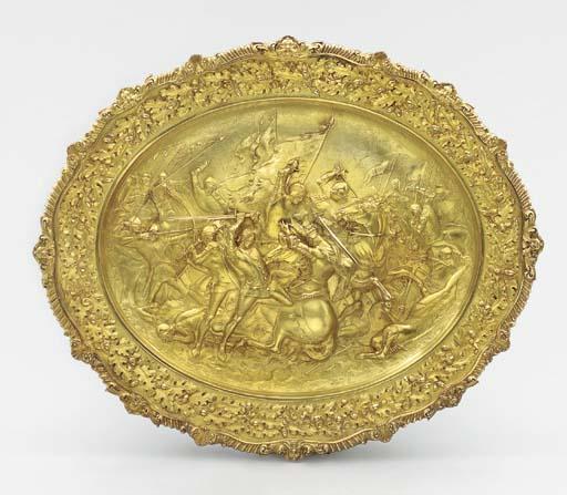 A William IV silver-gilt sideb