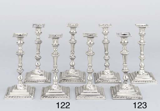 A set of Six George II silver