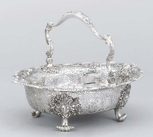 A George II silver bread-baske