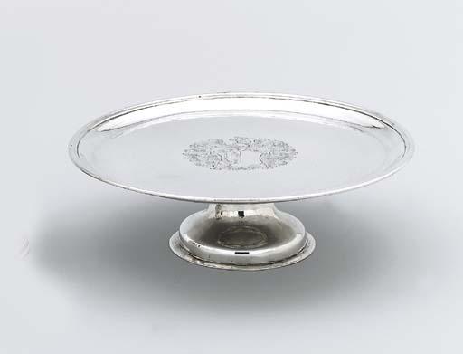 An George I Irish silver tazza
