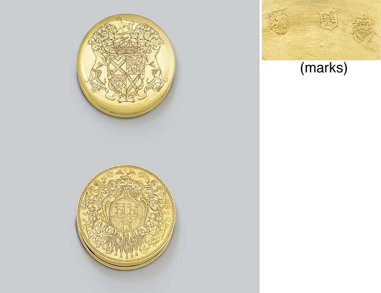 A George I Irish gold freedom-