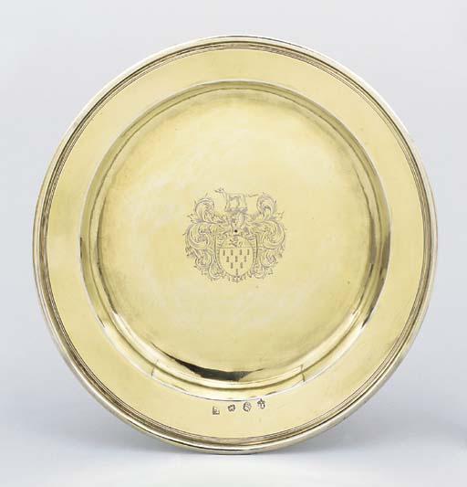 A Charles II plain circular di