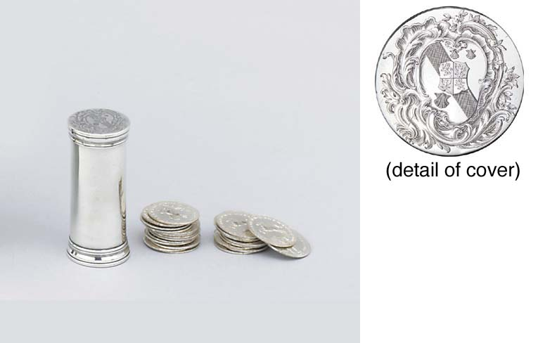 A George I silver counter-case