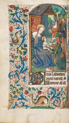 BOOK OF HOURS, use of Rouen, in Latin and French, ILLUMINATE