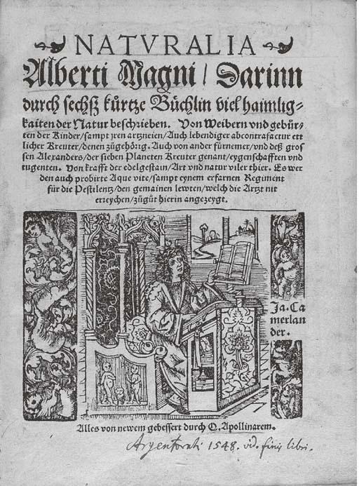 ALBERTUS MAGNUS (?1193-1280).