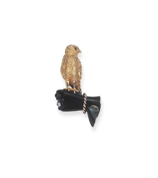 A FALCON BROOCH, BY CARTIER