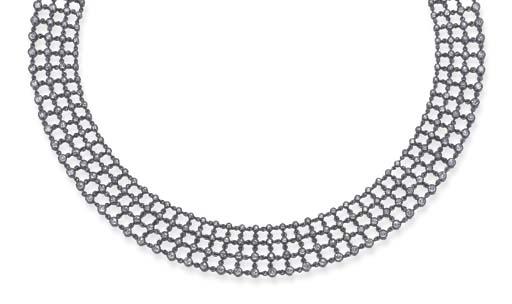A DIAMOND CHOKER NECKLACE