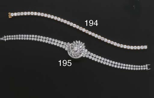 A DIAMOND LINE BRACELET, BY BO