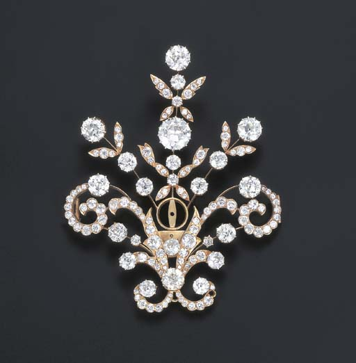 A FINE DIAMOND TURBAN ORNAMENT