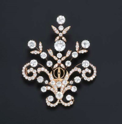 A FINE DIAMOND TURBAN ORNAMENT