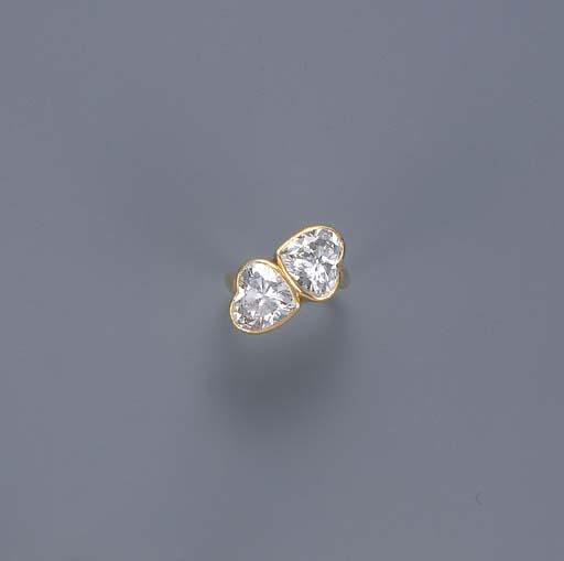 A HEART-SHAPED DIAMOND TWO-STO