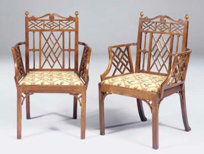 A PAIR OF GEORGE II PLUMWOOD O