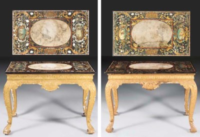 A PAIR OF GEORGE I GILT-GESSO
